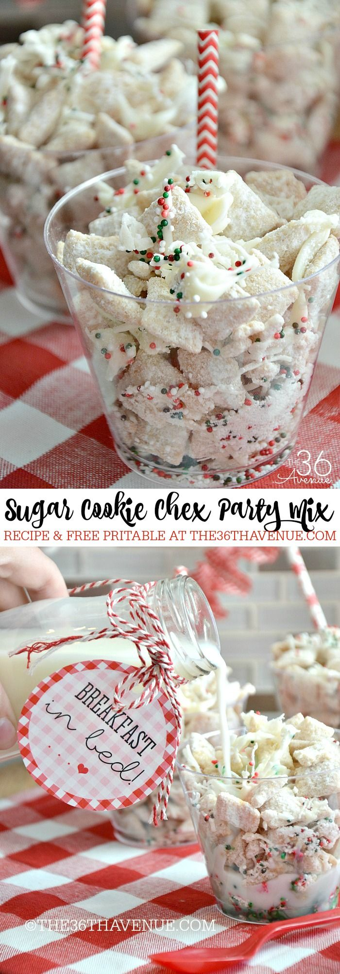Sugar Cookie Party Mix and Printable