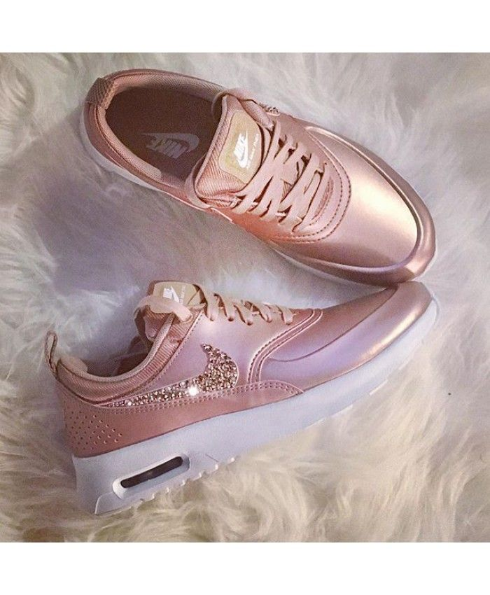 chaussure nike air max thea cristal rose gold pas cher. Black Bedroom Furniture Sets. Home Design Ideas