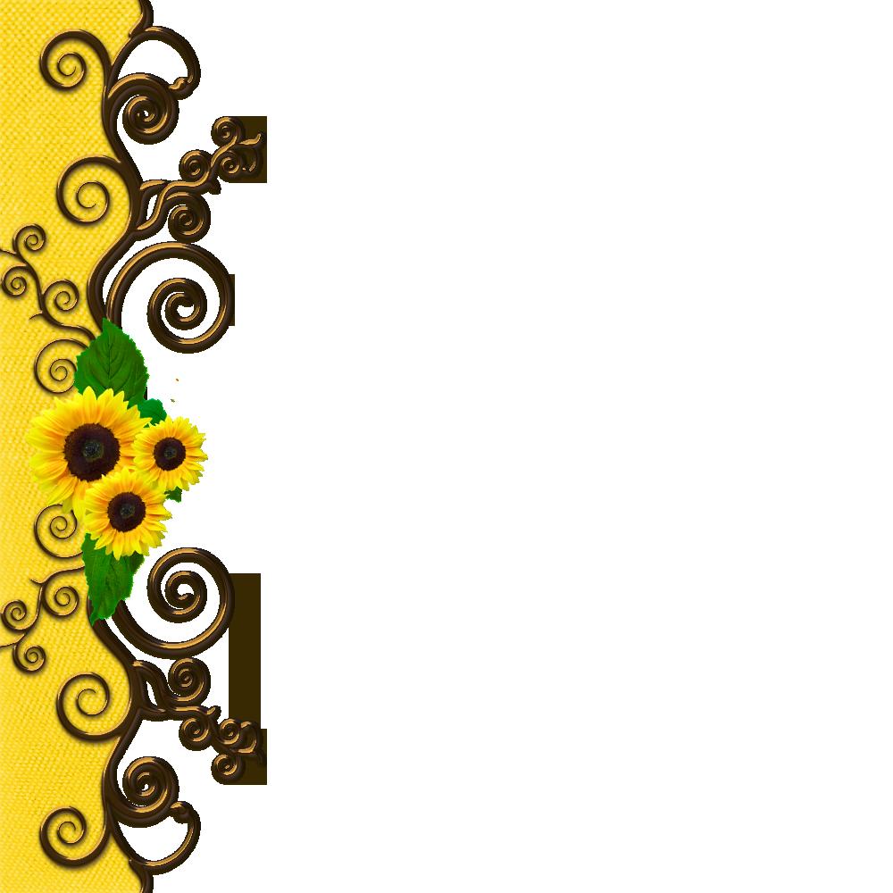 Sunflower Border Invite