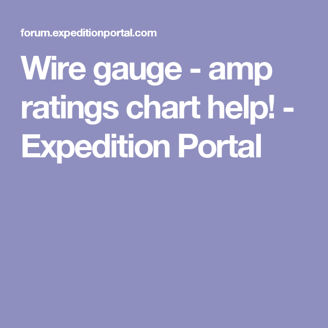 Wire gauge amp ratings chart help expedition portal things i wire gauge amp ratings chart help expedition portal greentooth Choice Image