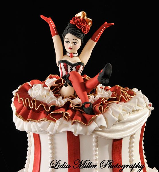 can can dancer cake