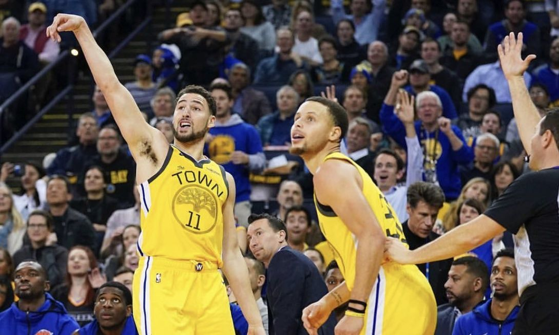 Warriors ride Klay Thompson 43point gem to rout Knicks