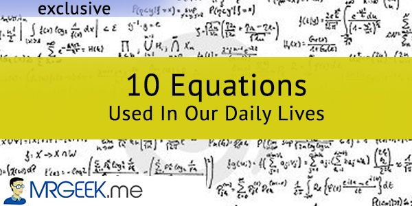 10 Equations Used In Our Daily Lives Equations Teaching Math Middle School Math