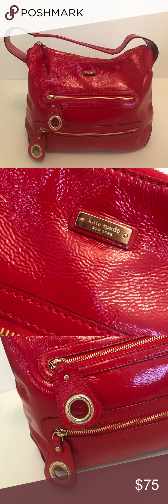 Kate Spade Red Patent Leather Purse