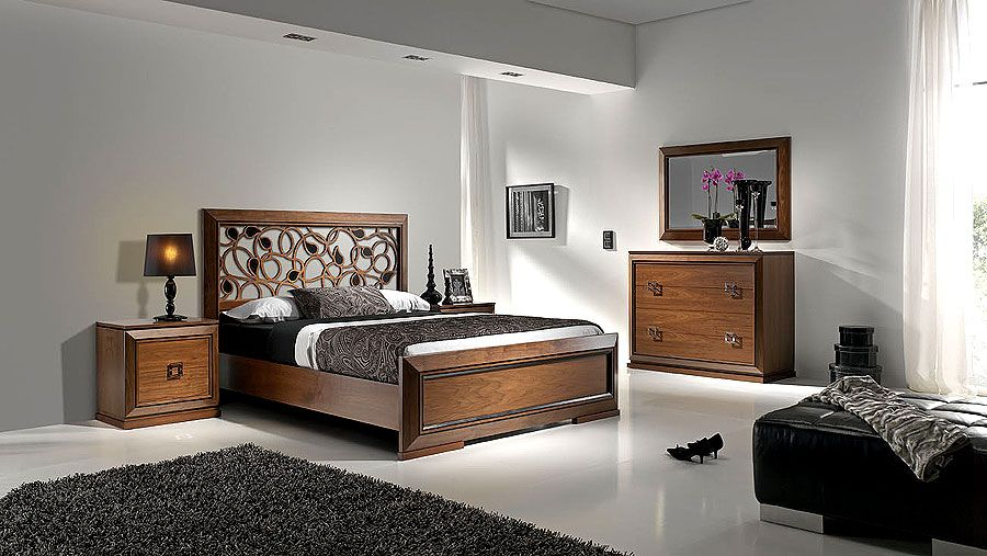 Dormitorio wallnut moderno material madera de haya nota for Dormitorios madera modernos