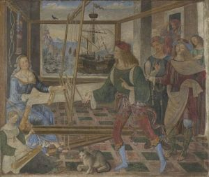 Penelope with the Suitors Bernardino Pinturicchio - circa 1509, Approximately 55 years old.
