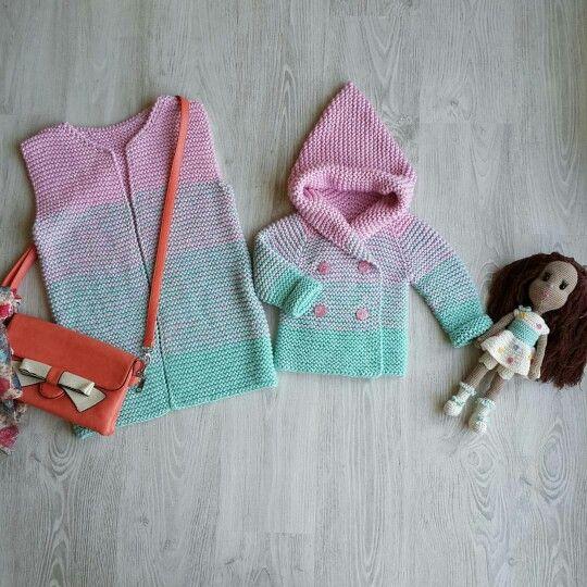 мятно-розовый кардиган детский кардиган кардиган для девочки градиент фэмили лук вязаный кардиган baby cardigan