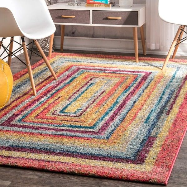 Nuloom Contemporary Endless Doorways Multi Kids Rug 8 X 10