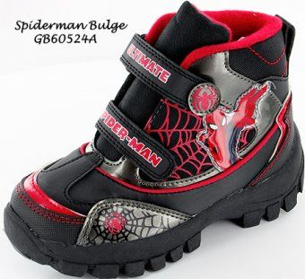 Fantastic Spiderman Boots with Hard grip non slip soles. These great Spiderman Boots have double velcro fastenings with padded lining and sock for extra comfort. These amazing Spiderman Boots have a picture on the side and ultimate Spiderman printed on the fastenings. Available in sizes 7, 8, 9, 10, 11, 12, 13 and 1.