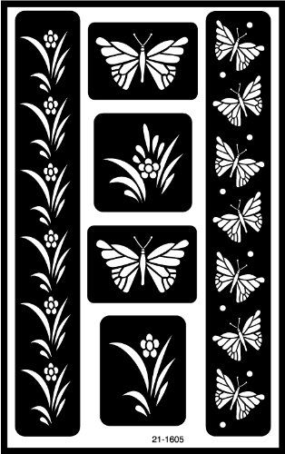Armour Etch Over N Over Stencil Butterflies Armour Http Www Amazon Com Dp B001687t3g Ref Cm Sw R Pi D Glass Etching Stencils Glass Etching Butterfly Stencil