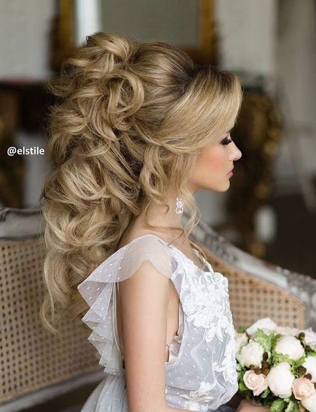 Long Wedding Hairstyles Extraordinary Elstile Wedding Hairstyle Inspiration  Weddings Hair Style And
