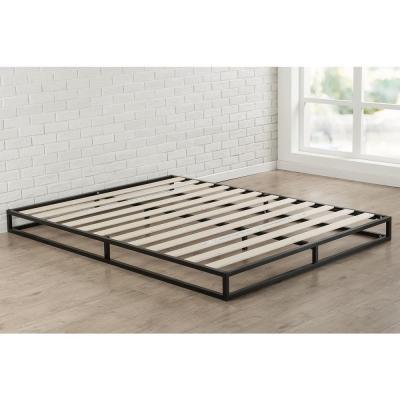 Metal Platform Bed, Wood Slat Bed Frame Queen