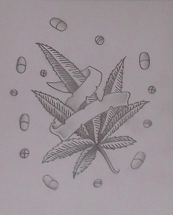 Weed Drawing Thc Will You Mary Jane Me