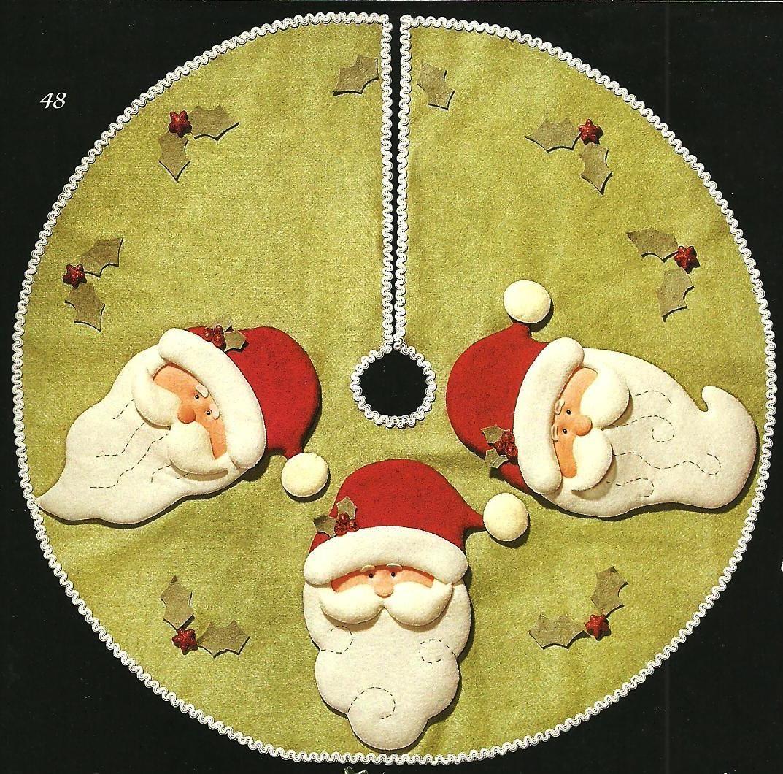 Pie de arbol santas navidad rboles de navidad - Arboles de navidad elegantes ...