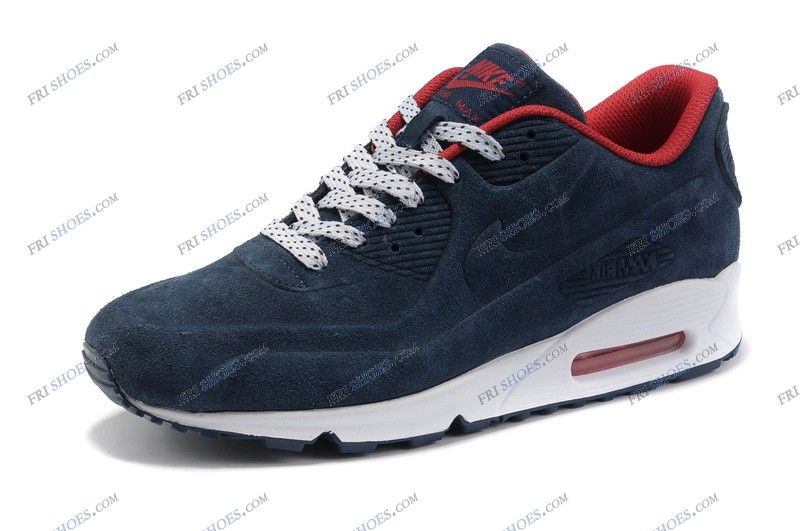 Mens Nike Air Max 90 VT Premium QS Dark Blue Red latest nike