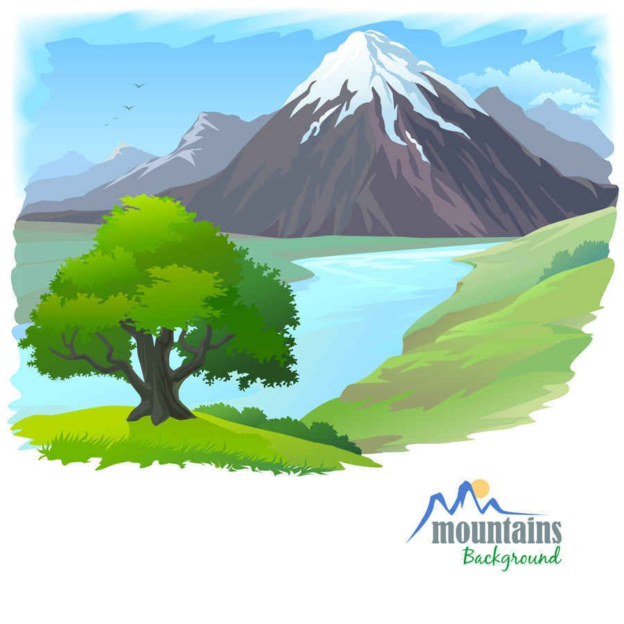 Cartoon landscape vector background12 landscape