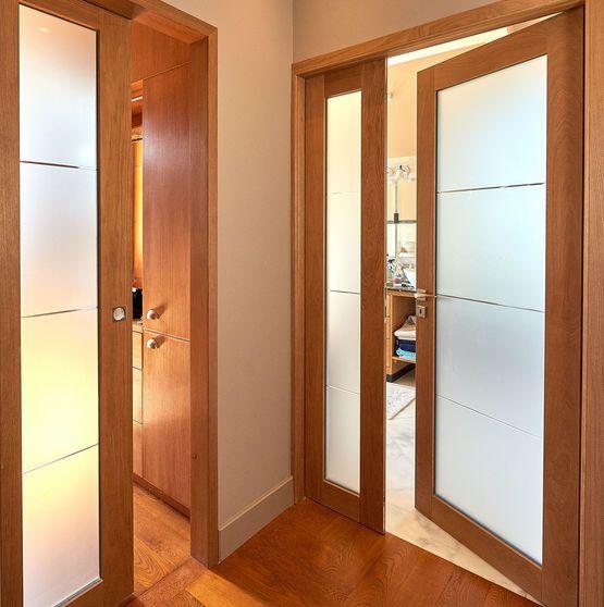 Porte d'intérieur vitrée   Bora design
