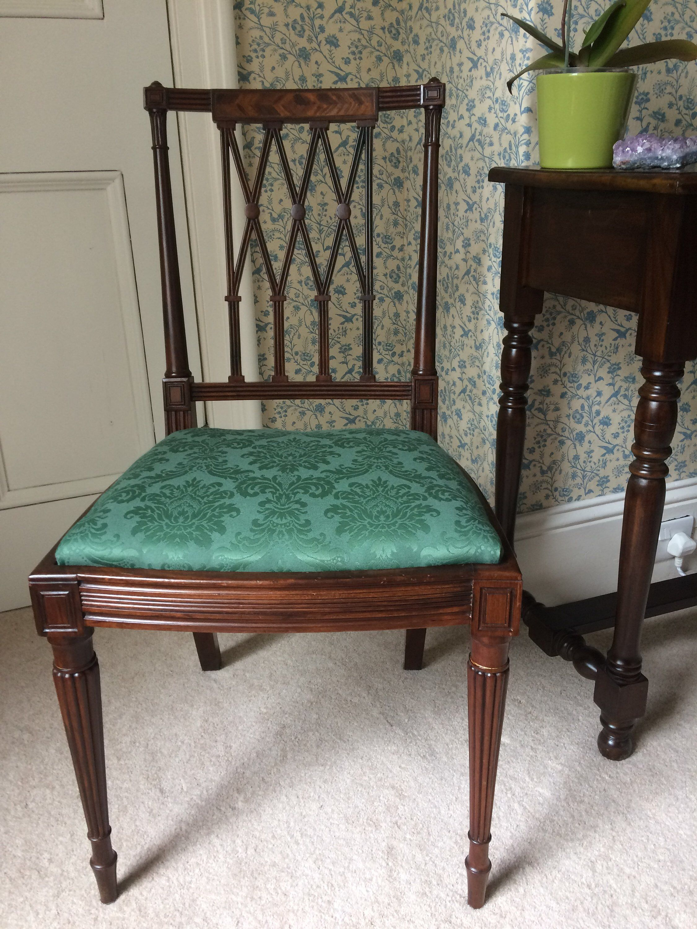 Fabulous Item From My Etsy 19th Century Sheraton Style Carved Dining Chair