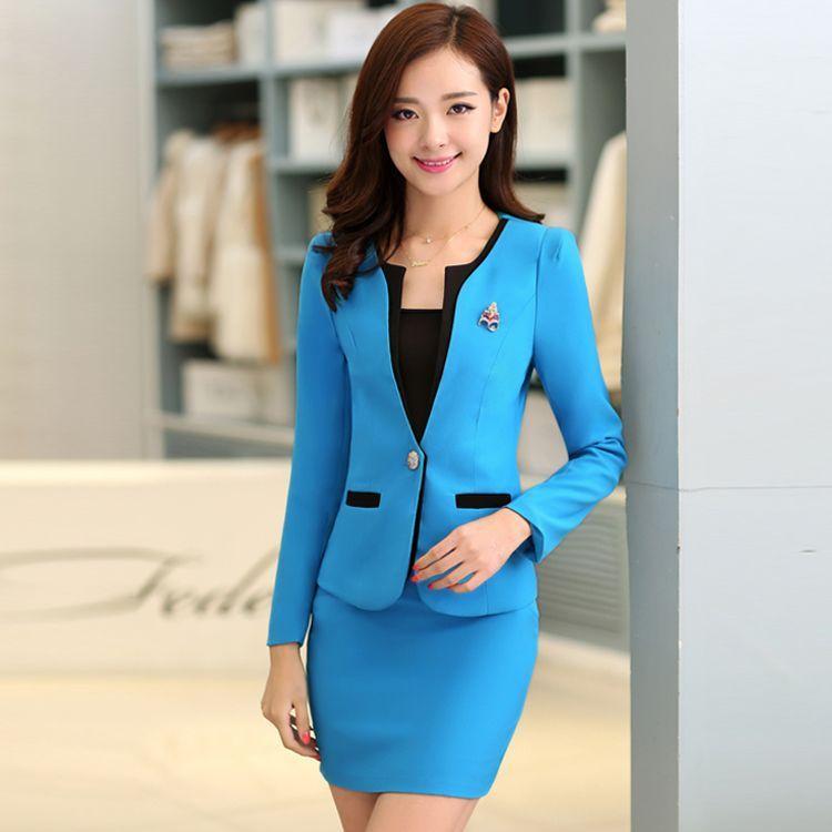 28007b9e49 Resultado de imagen para estilos de blazer para mujer Blusas Para Uniformes