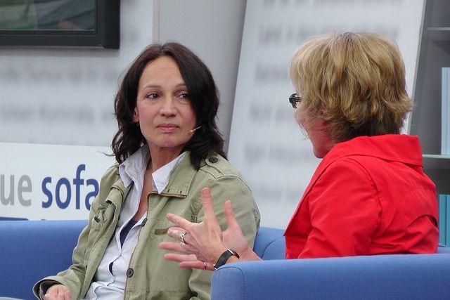 Marion Brasch auf dem Blauen Sofa bei der Leipziger Buchmesse 2012