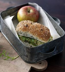Chicken, pesto sandwiches take no time to make and are great for packed lunches.