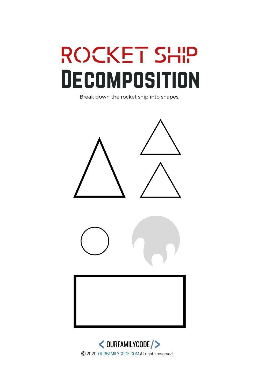 Rocket Ship Decomposition Unplugged Coding Activity Unplugged Coding Activities Teaching Kids Activities [ 1500 x 1000 Pixel ]