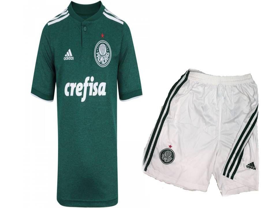 87c3719064 Kit Infantil Palmeiras Oficial Adidas 2018 2019 Lançamento