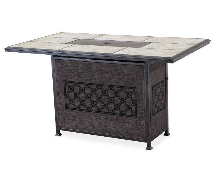 Amazing Stoneridge High Gas Fire Pit Patio Table 68 X 38 At Big Ocoug Best Dining Table And Chair Ideas Images Ocougorg