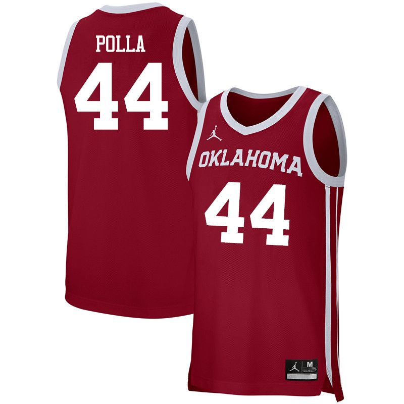 8a7d2192a45 Men Jordan Brand  44 Hannes Polla Oklahoma Sooners Basketball Jerseys- Crimson