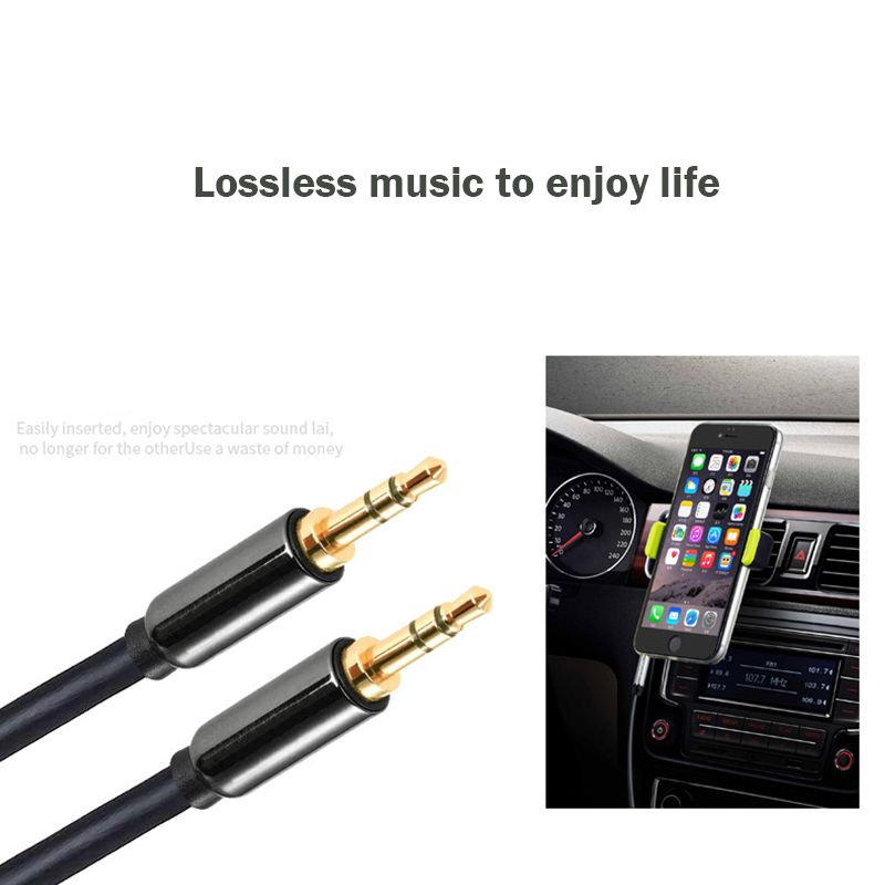3.5mm Male to Male Audio Cable Jack 3 5 Aux Cable For iPhone Samsung ...