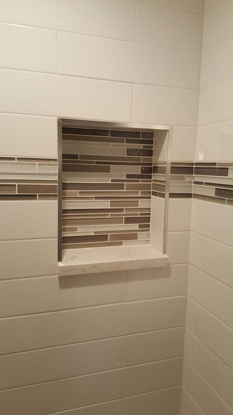 Hall bath details in shower