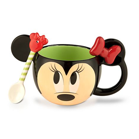 Minnie Mouse Mug and Spoon Set - Holiday | Anything Disney C3 ...