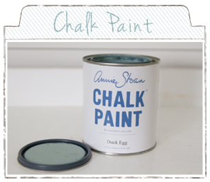 chalk paint, supposed to be amazing for painting anything