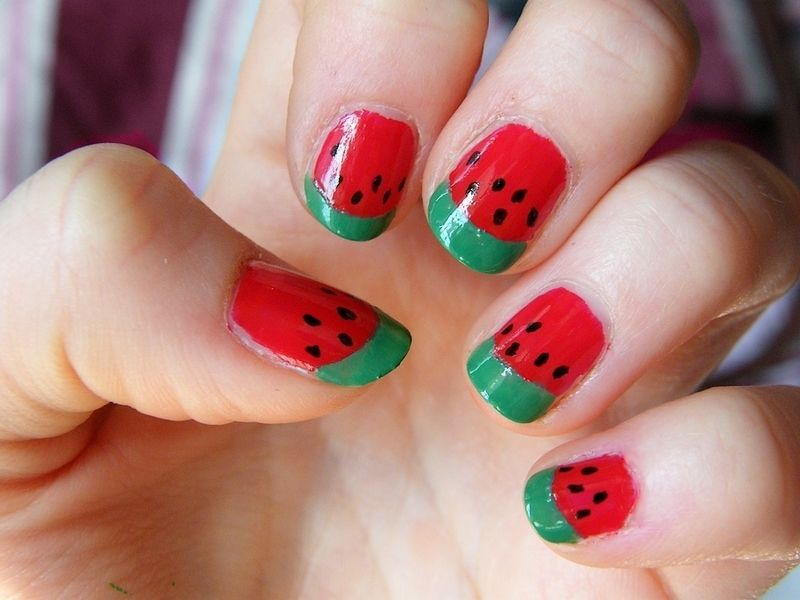 Based on watermelon nails by amisha p watermelon nails food based on watermelon nails by amisha p prinsesfo Gallery