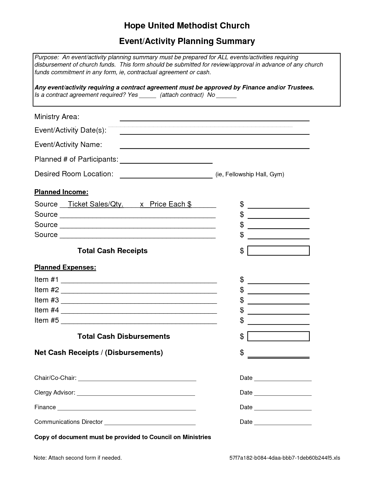 Event Planning Contract Templates Free