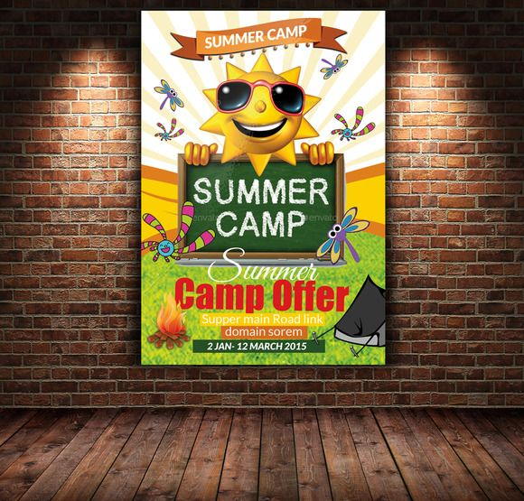 Summer Camp Flyer Template Flyer template, Template and Psd templates - Summer Camp Flyer Template