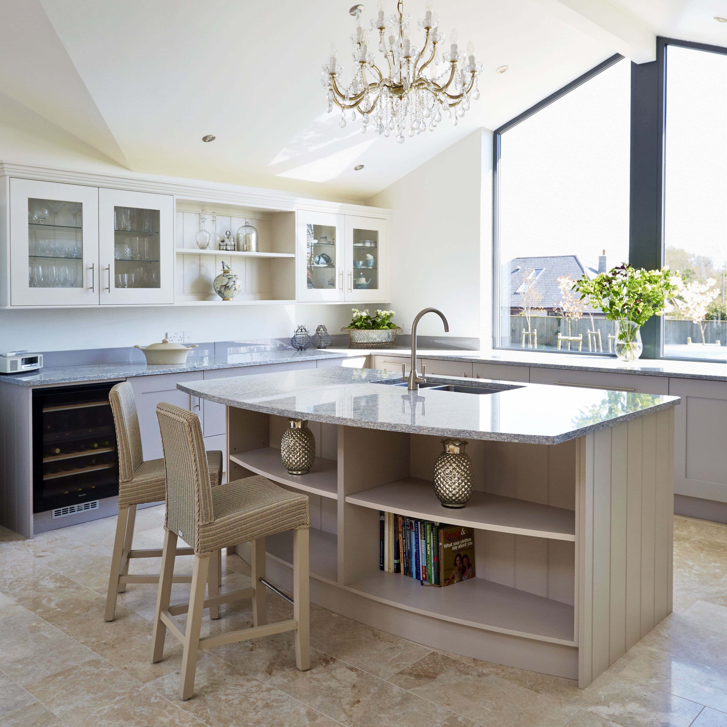 Stunning unframed bespoke kitchen, classic but with a ...