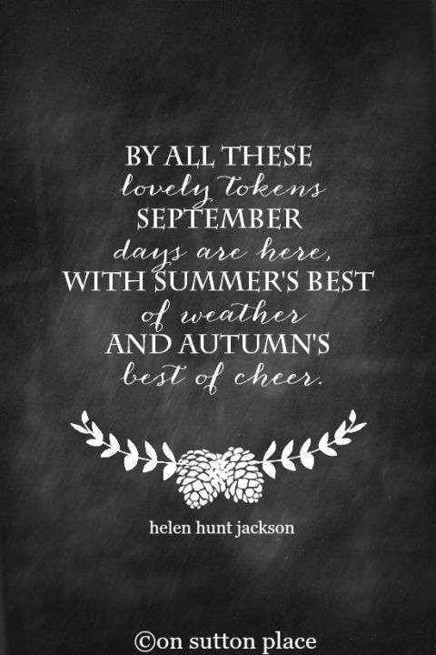 September Quote Free Printables