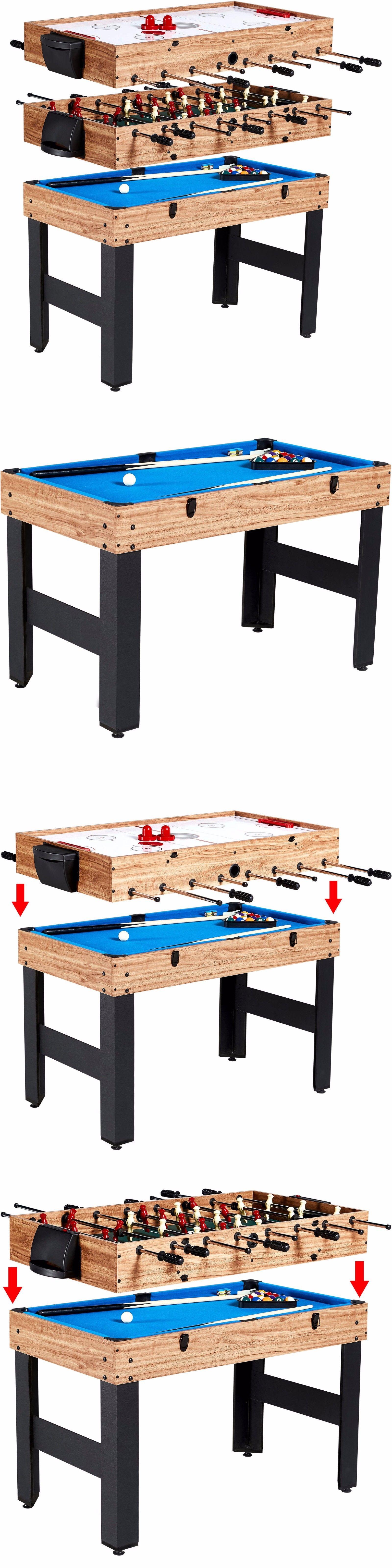 Foosball 36276: Game Table Foosball Pool Hockey 3 In 1 Multi Game Kids  Adults Billiards