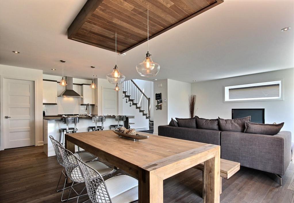 open space with a drop ceiling by concept dub aire ouverte avec retomb de plafond r alis par. Black Bedroom Furniture Sets. Home Design Ideas