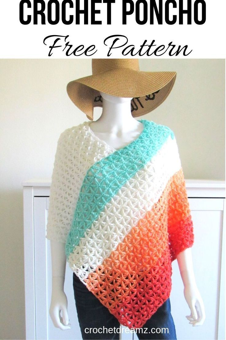 Crochet Poncho Free Pattern, Kalisha Poncho for Summer - Crochet Dreamz