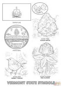 Vermont State Symbols Coloring Pages Sketch Template State