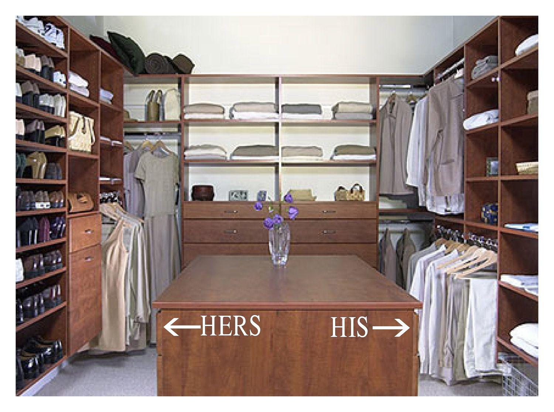 his hers closet or bathroom organizer closet pinterest