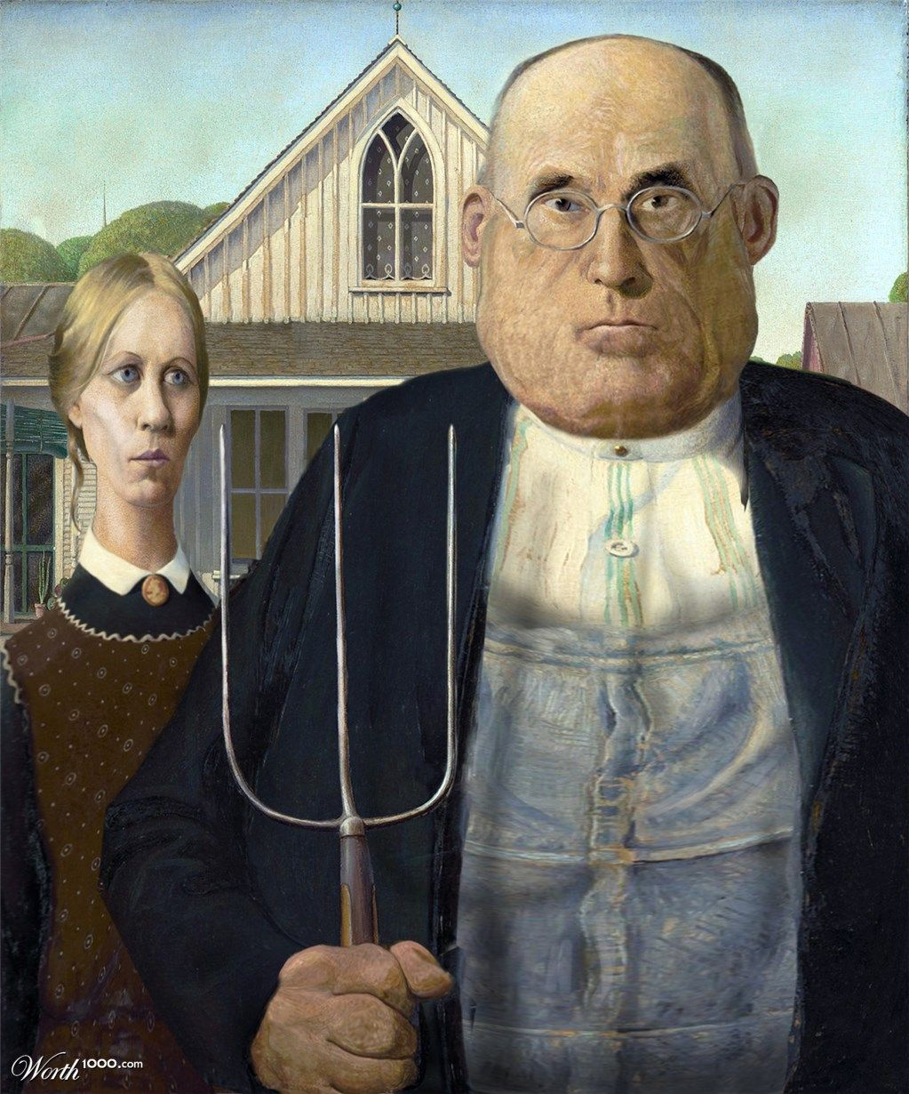 American Gothic American Gothic American Gothic Parody American Gothic Painting