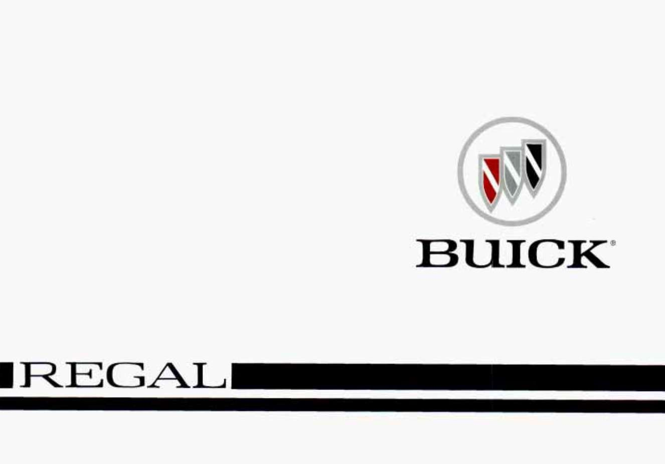 Buick Regal 1996 Owner's Manual has been published on