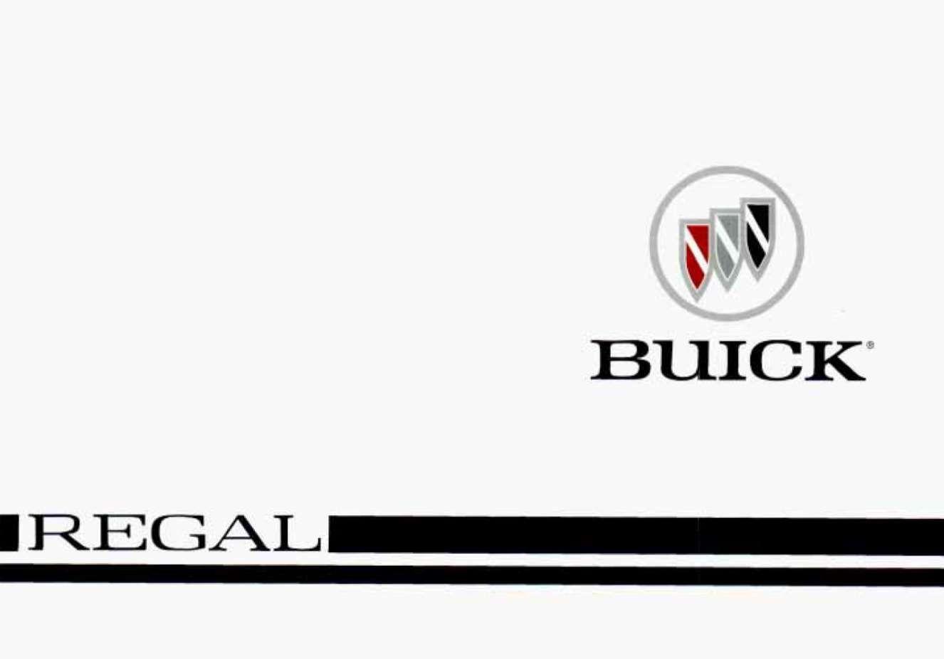 Buick Regal 1996 Owner S Manual Pdf Online Download Buick Regal Buick Owners Manuals