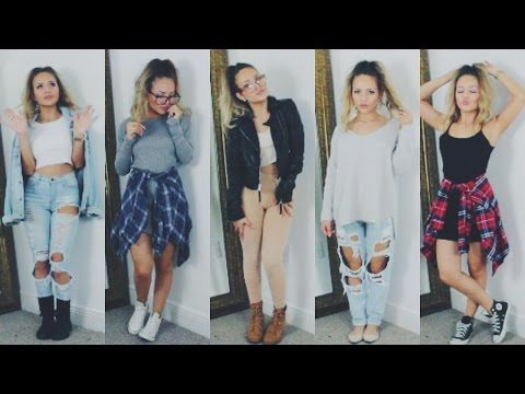 BACK TO SCHOOL OUTFIT IDEAS ♡ Nathalie Paris - YouTube