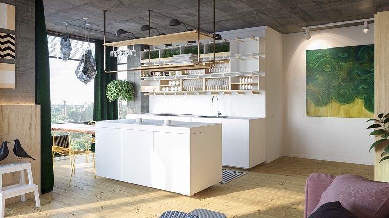 Diseño de fachadas e interiores de moderna casa de dos plantas ...