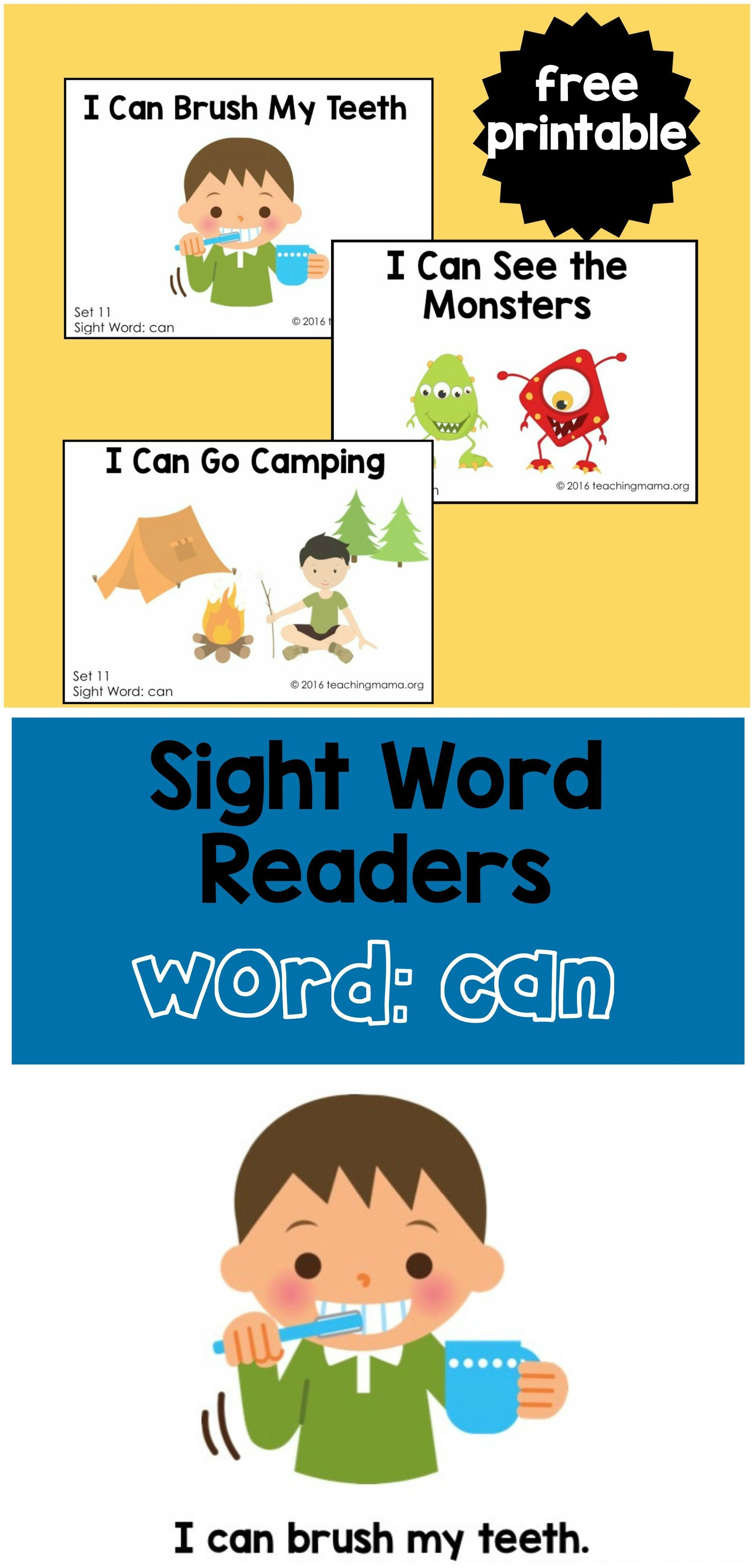 Sight Word Readers For The Word Can