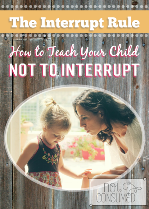 Does it drive you nuts that your children interrupt you? There is a simple and effective solution.